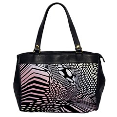 Abstract Fauna Pattern When Zebra And Giraffe Melt Together Office Handbags by BangZart