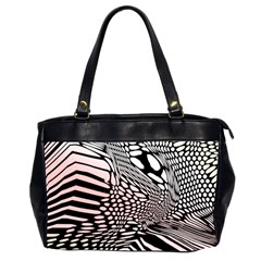 Abstract Fauna Pattern When Zebra And Giraffe Melt Together Office Handbags (2 Sides)  by BangZart