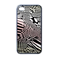 Abstract Fauna Pattern When Zebra And Giraffe Melt Together Apple Iphone 4 Case (black)