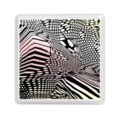 Abstract Fauna Pattern When Zebra And Giraffe Melt Together Memory Card Reader (square)