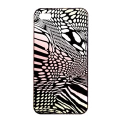 Abstract Fauna Pattern When Zebra And Giraffe Melt Together Apple Iphone 4/4s Seamless Case (black)