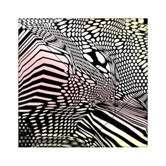 Abstract Fauna Pattern When Zebra And Giraffe Melt Together Acrylic Tangram Puzzle (6  X 6 )