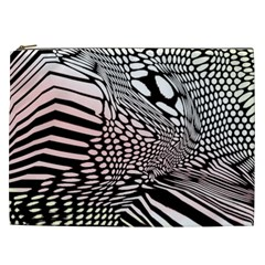 Abstract Fauna Pattern When Zebra And Giraffe Melt Together Cosmetic Bag (xxl)  by BangZart