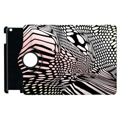 Abstract Fauna Pattern When Zebra And Giraffe Melt Together Apple Ipad 2 Flip 360 Case by BangZart