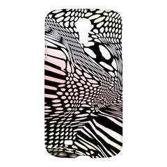 Abstract Fauna Pattern When Zebra And Giraffe Melt Together Samsung Galaxy S4 I9500/i9505 Hardshell Case