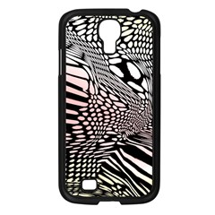 Abstract Fauna Pattern When Zebra And Giraffe Melt Together Samsung Galaxy S4 I9500/ I9505 Case (black) by BangZart
