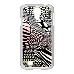 Abstract Fauna Pattern When Zebra And Giraffe Melt Together Samsung Galaxy S4 I9500/ I9505 Case (white)