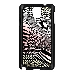 Abstract Fauna Pattern When Zebra And Giraffe Melt Together Samsung Galaxy Note 3 N9005 Case (black)