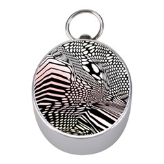 Abstract Fauna Pattern When Zebra And Giraffe Melt Together Mini Silver Compasses by BangZart