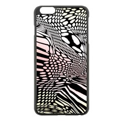Abstract Fauna Pattern When Zebra And Giraffe Melt Together Apple Iphone 6 Plus/6s Plus Black Enamel Case
