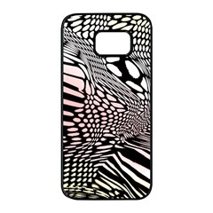 Abstract Fauna Pattern When Zebra And Giraffe Melt Together Samsung Galaxy S7 Edge Black Seamless Case by BangZart