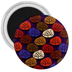 Colorful Trees Background Pattern 3  Magnets by BangZart