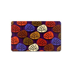 Colorful Trees Background Pattern Magnet (name Card) by BangZart