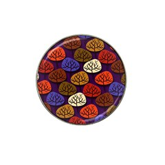 Colorful Trees Background Pattern Hat Clip Ball Marker (4 Pack) by BangZart