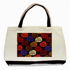 Colorful Trees Background Pattern Basic Tote Bag by BangZart
