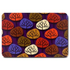 Colorful Trees Background Pattern Large Doormat