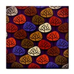 Colorful Trees Background Pattern Face Towel Front