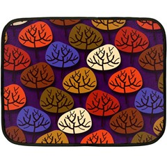 Colorful Trees Background Pattern Fleece Blanket (mini) by BangZart