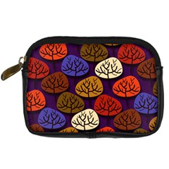 Colorful Trees Background Pattern Digital Camera Cases by BangZart
