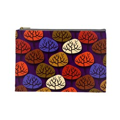 Colorful Trees Background Pattern Cosmetic Bag (large)  by BangZart