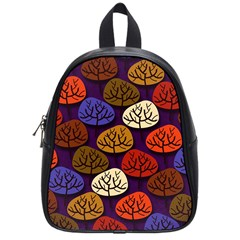 Colorful Trees Background Pattern School Bags (small)