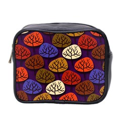 Colorful Trees Background Pattern Mini Toiletries Bag 2 Side by BangZart