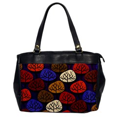 Colorful Trees Background Pattern Office Handbags by BangZart