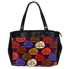 Colorful Trees Background Pattern Office Handbags (2 Sides)  by BangZart
