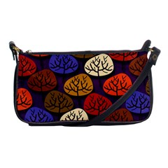 Colorful Trees Background Pattern Shoulder Clutch Bags