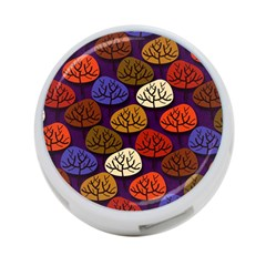 Colorful Trees Background Pattern 4 Port Usb Hub (two Sides)