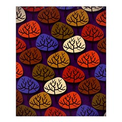 Colorful Trees Background Pattern Shower Curtain 60  X 72  (medium)  by BangZart