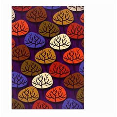 Colorful Trees Background Pattern Large Garden Flag (two Sides) by BangZart