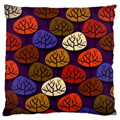 Colorful Trees Background Pattern Large Cushion Case (two Sides) by BangZart
