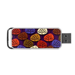 Colorful Trees Background Pattern Portable Usb Flash (one Side) by BangZart
