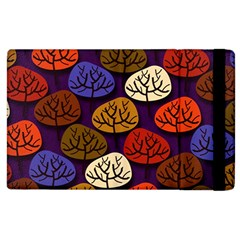 Colorful Trees Background Pattern Apple Ipad 2 Flip Case by BangZart