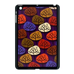 Colorful Trees Background Pattern Apple Ipad Mini Case (black) by BangZart