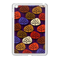 Colorful Trees Background Pattern Apple Ipad Mini Case (white)