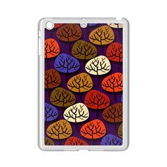 Colorful Trees Background Pattern Ipad Mini 2 Enamel Coated Cases by BangZart