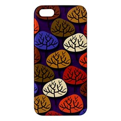 Colorful Trees Background Pattern Apple Iphone 5 Premium Hardshell Case