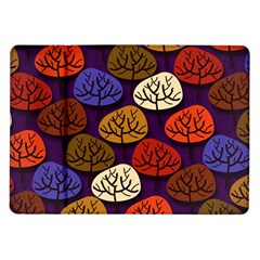 Colorful Trees Background Pattern Samsung Galaxy Tab 10 1  P7500 Flip Case by BangZart