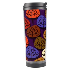 Colorful Trees Background Pattern Travel Tumbler by BangZart