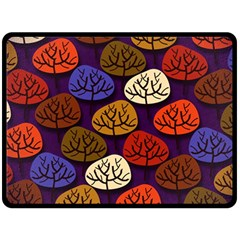 Colorful Trees Background Pattern Double Sided Fleece Blanket (large)  by BangZart