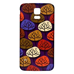 Colorful Trees Background Pattern Samsung Galaxy S5 Back Case (white)