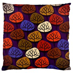 Colorful Trees Background Pattern Large Flano Cushion Case (two Sides) by BangZart