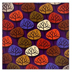 Colorful Trees Background Pattern Large Satin Scarf (square) by BangZart