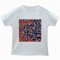 Floral Seamless Pattern Vector Texture Kids White T Shirts