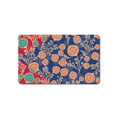 Floral Seamless Pattern Vector Texture Magnet (name Card)