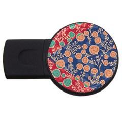 Floral Seamless Pattern Vector Texture Usb Flash Drive Round (2 Gb)