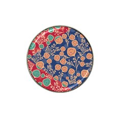 Floral Seamless Pattern Vector Texture Hat Clip Ball Marker (4 Pack)