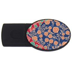 Floral Seamless Pattern Vector Texture Usb Flash Drive Oval (4 Gb) by BangZart